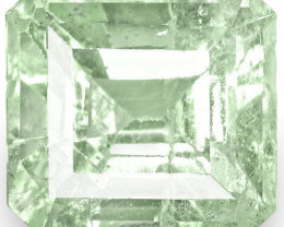Colombia Emerald, 3.71 Carats, Soft Bluish Green Emerald Cut