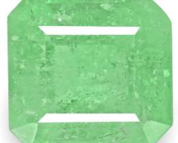 Colombia Emerald, 3.00 Carats, Medium Green Emerald Cut