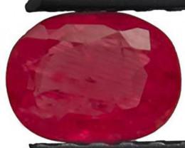 Burma Ruby, 0.84 Carats, Dark Pink Oval
