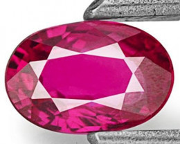 Mozambique Ruby, 0.40 Carats, Deep Pinkish Red Oval