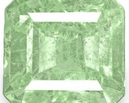 Colombia Emerald, 3.04 Carats, Lustrous Bluish Green Emerald Cut