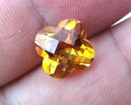 cts Golden Yellow Citrine Flower Checker Board Shape