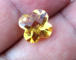 3.85cts Golden Yellow Citrine Flower Checker Board Shape