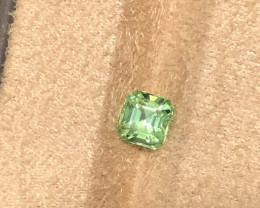 Mint green Afghan tourmaline.  1.35 carats. Spectacular color.
