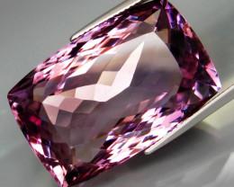53.22 ct. Real! 100%Natural JUMBO Purple&Golden Bolivia Ametrine Full Spark