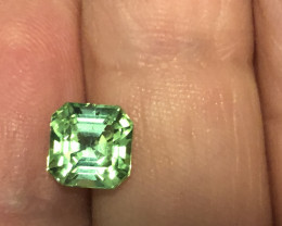 Mint green Afghan tourmaline.  2.00 carats. Spectacular color.