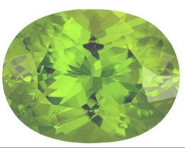 Peridot cut oval 10 x 8 mm FL & VVS