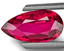 GIA Certified Mozambique Ruby, 2.02 Carats, Neon Purplish Red Pear