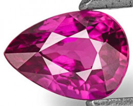 Mozambique Ruby, 0.46 Carats, Vivid Purplish Red Pear