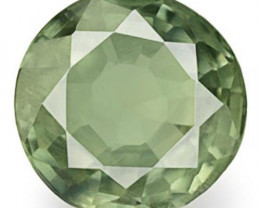Australia Fancy Sapphire, 0.58 Carats, Parrot Green Round