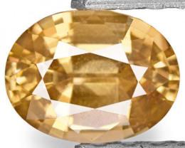IGI Certified Sri Lanka Yellow Sapphire, 0.91 Carats, Oval