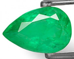 Colombia Emerald, 1.37 Carats, Intense Green Pear