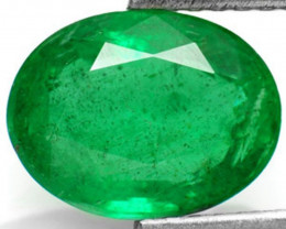 Zambia Emerald, 2.39 Carats, Intense Green Oval