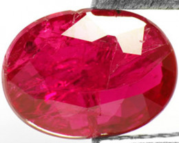 AIGS Certified Mozambique Ruby, 1.13 Carats, Purplish Red Oval