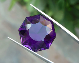 21.70 Ct Natural Purplish Fancy Cut Transparent Amethyst Gemstone