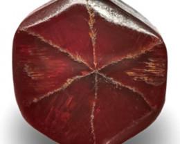 Burma Trapiche Ruby, 3.93 Carats, Pigeon Blood Red Hexagonal