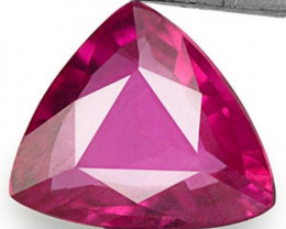 Mozambique Ruby, 0.47 Carats, Pinkish Red Trilliant