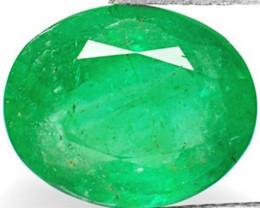 Zambia Emerald, 2.51 Carats, Dark Green Oval