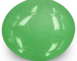 Colombia Emerald, 6.94 Carats, Lively Green Oval