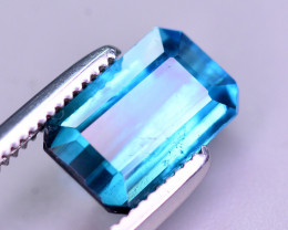 Brilliant Color 1.50 Ct Lagoon Blue Tourmaline From Afghanistan. ARA2