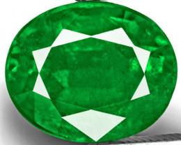 Zambia Emerald, 3.49 Carats, Rich Velvety Royal Green Oval
