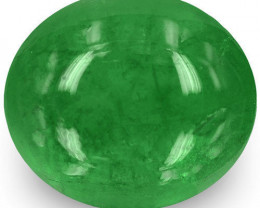 Zambia Emerald, 2.32 Carats, Lively Intense Green Oval