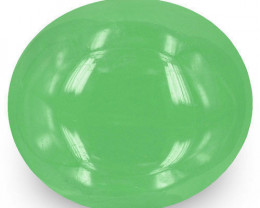 Colombia Emerald, 5.45 Carats, Pastel Green Oval