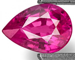 Mozambique Ruby, 0.34 Carats, Lustrous Pinkish Red Pear