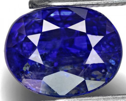 GIA Certified Kashmir Blue Sapphire, 2.87 Carats, Rich Royal Blue Oval