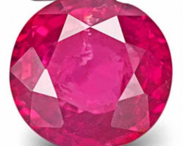 Tanzania Ruby, 1.58 Carats, Neon Pinkish Red Round