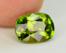 Beautiful Color 1.95 Ct Yellowish Green Tourmaline From Afghanistan. ARA1