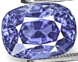 IGI Certified Sri Lanka Blue Sapphire, 3.41 Carats, Vivid Cornflower Blue