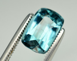 Superb Color 2.10 Ct Lagoon Blue Tourmaline From Afghanistan. ARA1