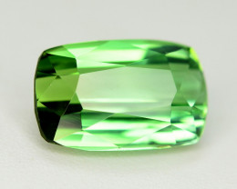 Perfect Color 1.80 Ct Lagoon Green Tourmaline From Afghanistan. ARA1