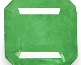 Colombia Emerald, 3.30 Carats, Grass Green Emerald Cut
