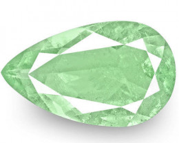 Colombia Emerald, 9.71 Carats, Lustrous Bluish Green Pear