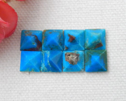 8pcs Faceted Blue Opal Cabochon, October Birthstone, Blue Opal Bead D818