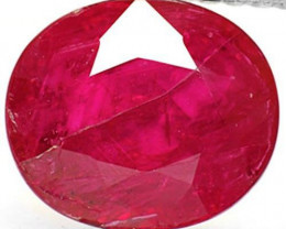 Mozambique Ruby, 1.75 Carats, Blood Red Oval
