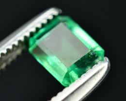 Top Color 0.40 Ct Natural Panjshir Emerald. RA