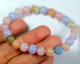 93.5 Ct Natural Pink Beryl Bracelet