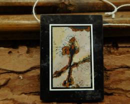 Natural gemstone chouhua jasper obsidian pendant bead (G1154)