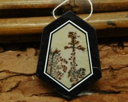 Chouhua jasper obsidian pendant bead (G1155)