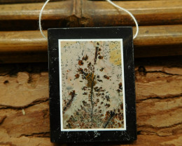 Gemstone chouhua jasper pendant bead (G1156)