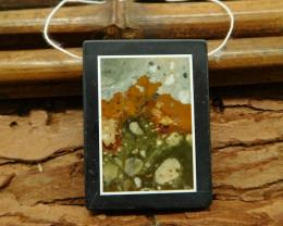 natural stone jasper obsidian pendant bead (G1159)