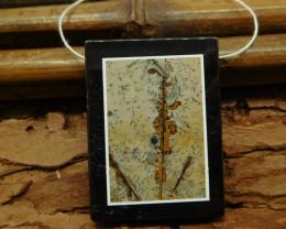 Chohua jasper obsidian pendant bead (G1160)