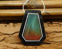 Amazonite obsidian pendant bead (G1161)