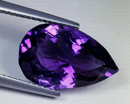 6.96 ct  Top Quality Gem  Superb Pear Cut Natural Purple Amethyst