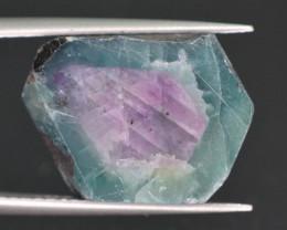 Rarest 12.20 ct Trapiche Pink Kashmir Sapphire Slice ~ T A