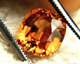 3.86 Carat Southeast Asian VS Orange Zircon - Gorgeous