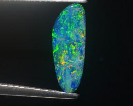 HUGE 1.22CT 13.9mm NEON OCEANIC BLUE & ELECTRIC GREEN OPAL DOUBLET $1NR!